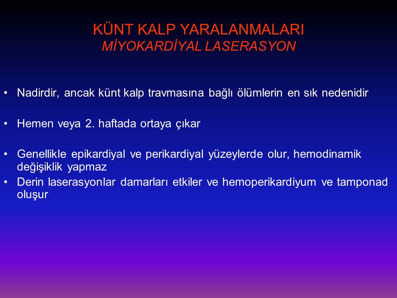 KÜNT KALP YARALANMALARI MİYOKARDİYAL LASERASYON