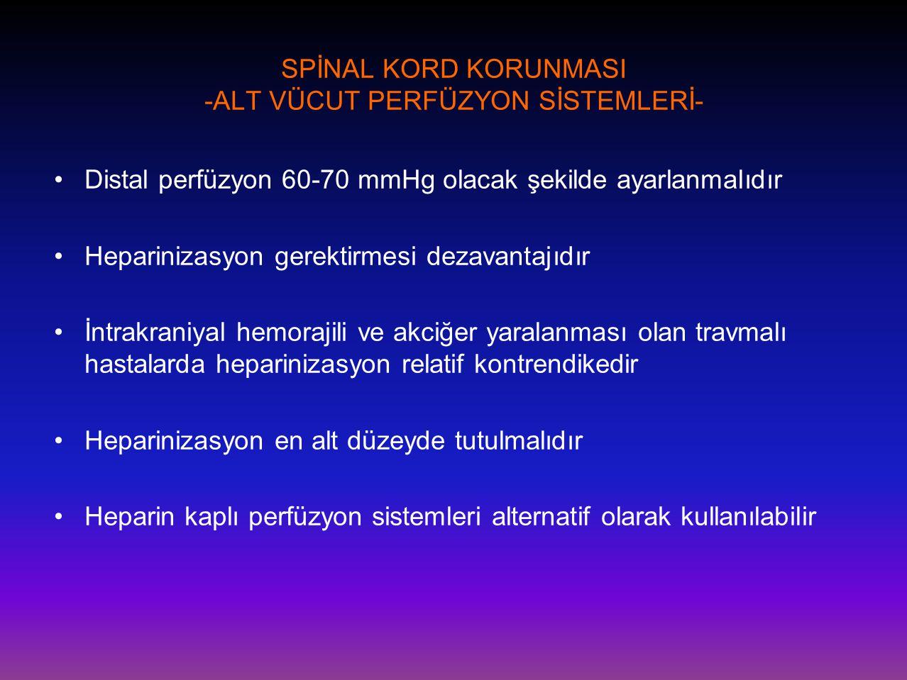 SPİNAL KORD KORUNMASI -ALT VÜCUT PERFÜZYON SİSTEMLERİ-