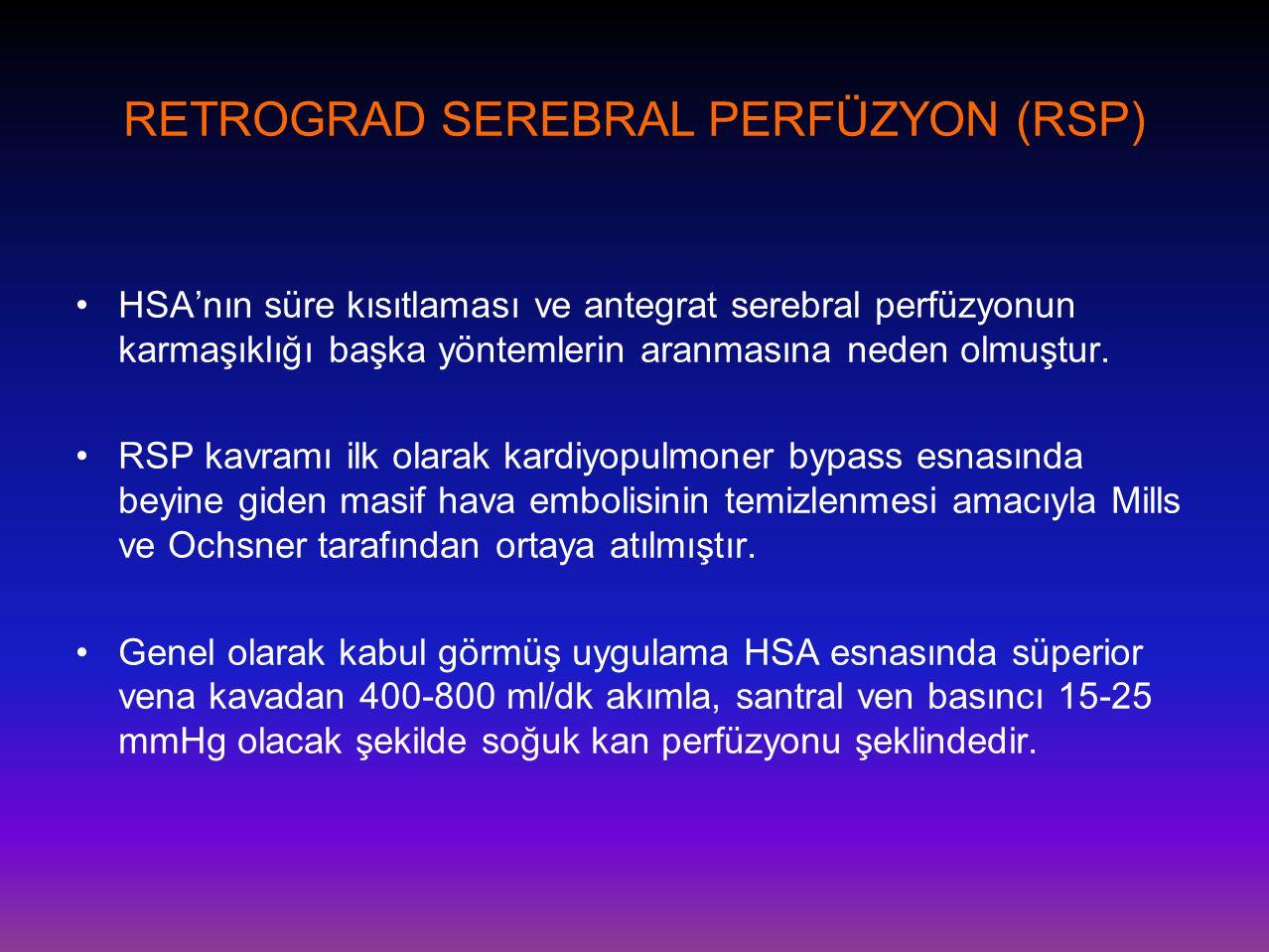 RETROGRAD SEREBRAL PERFÜZYON (RSP)
