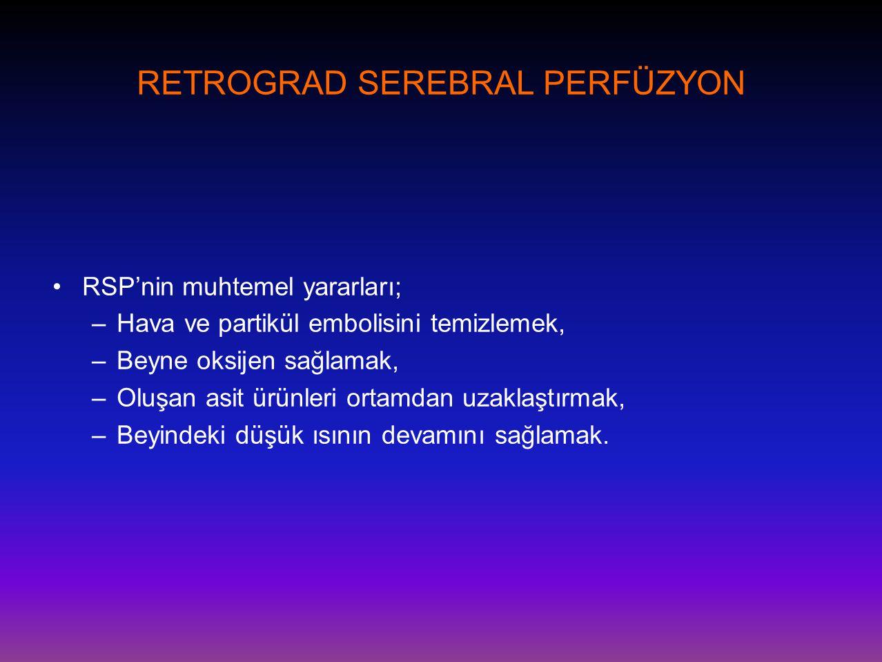 RETROGRAD SEREBRAL PERFÜZYON