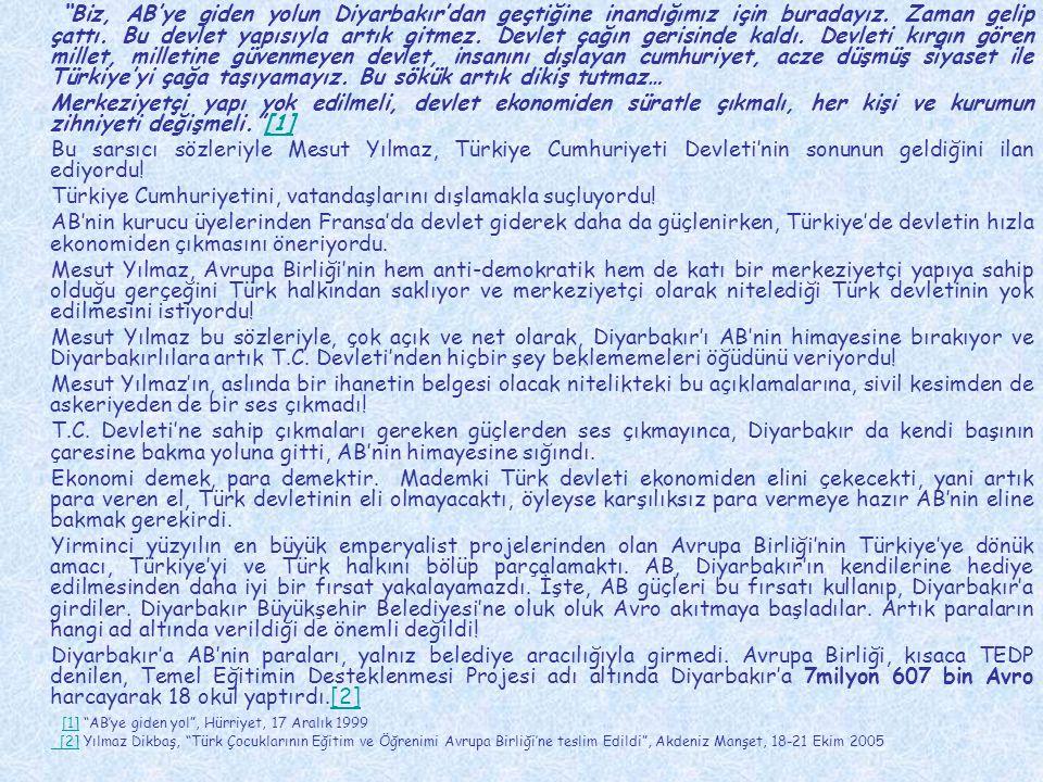 Türkiye Cumhuriyetini, vatandaşlarını dışlamakla suçluyordu!