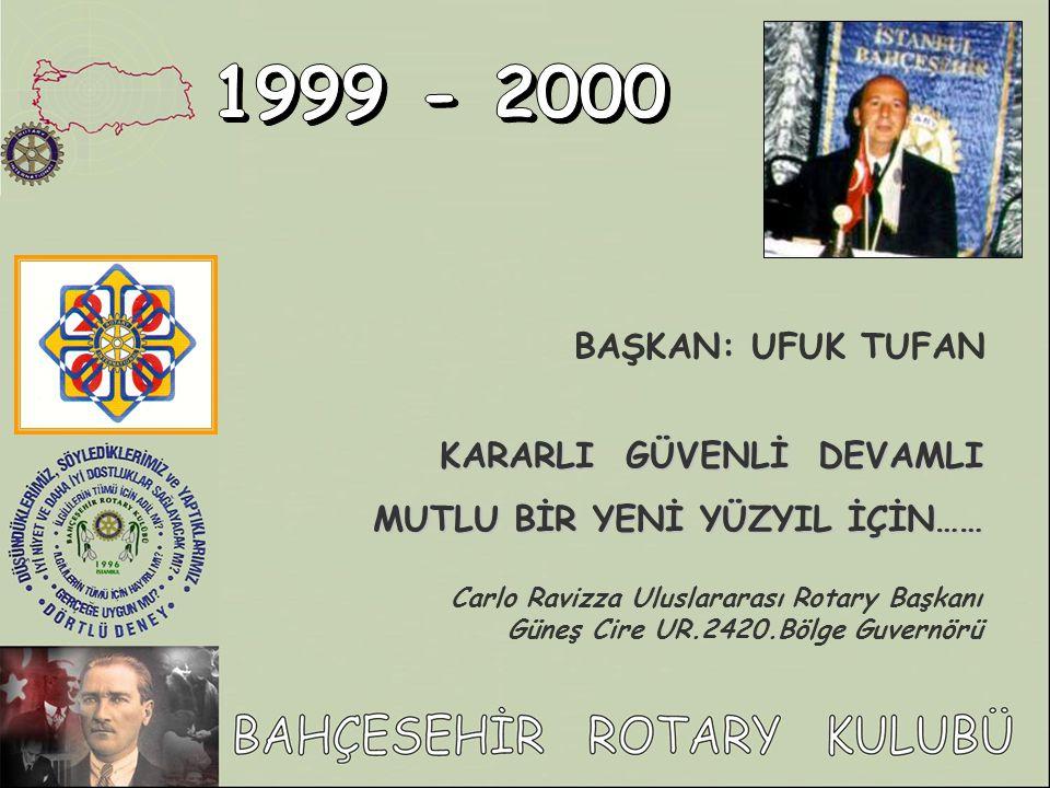 1999 - 2000 BAŞKAN: UFUK TUFAN KARARLI GÜVENLİ DEVAMLI