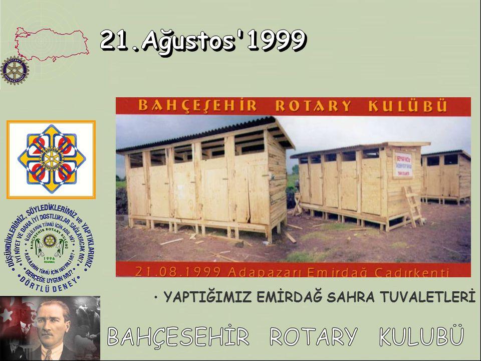 21.Ağustos 1999 YAPTIĞIMIZ EMİRDAĞ SAHRA TUVALETLERİ