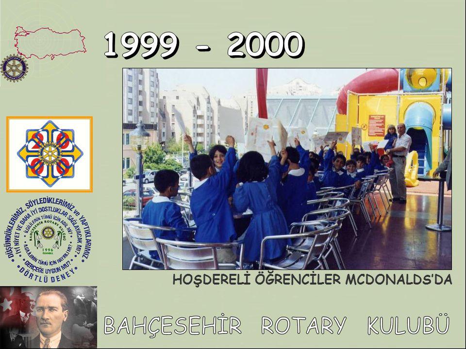 1999 - 2000 HOŞDERELİ ÖĞRENCİLER MCDONALDS'DA