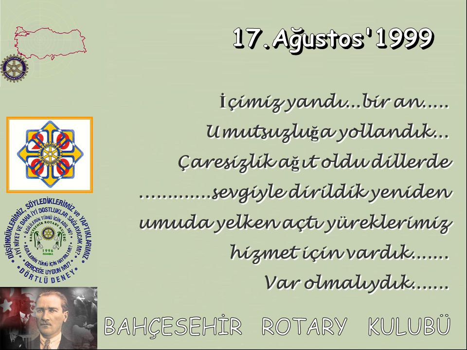 17.Ağustos 1999 İçimiz yandı...bir an..... Umutsuzluğa yollandık...