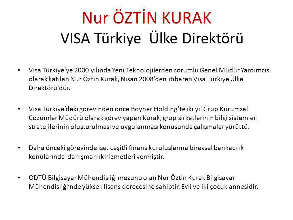 Nur ÖZTİN KURAK VISA Türkiye Ülke Direktörü