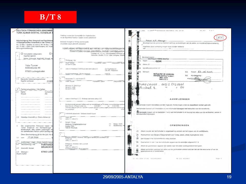 B/T 8 N/TUR 111 T/A 11 29/09/2005-ANTALYA