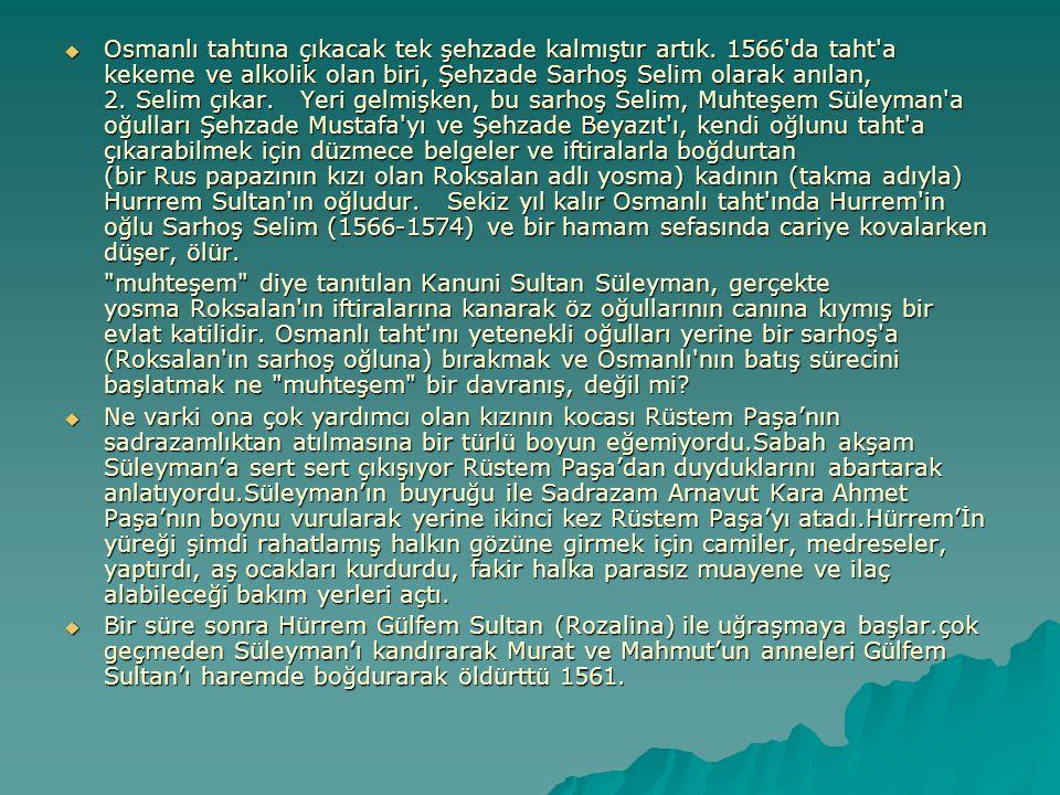 Osmanlı tahtına çıkacak tek şehzade kalmıştır artık