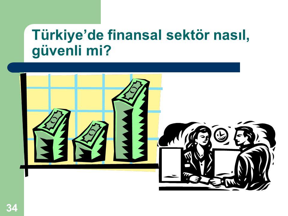 Türkiye'de finansal sektör nasıl, güvenli mi