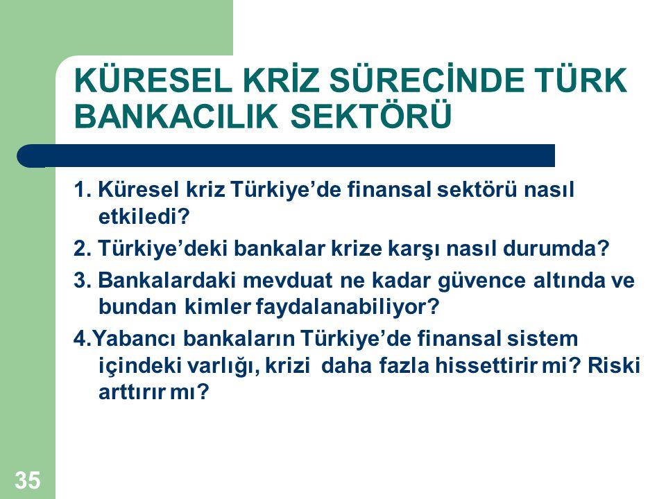 KÜRESEL KRİZ SÜRECİNDE TÜRK BANKACILIK SEKTÖRÜ