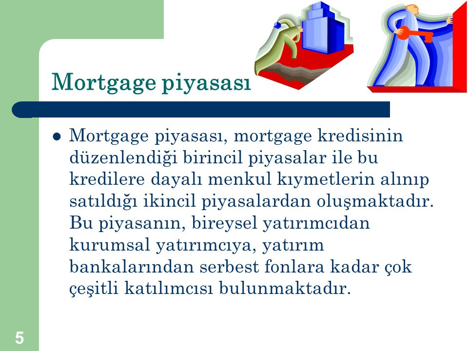 Mortgage piyasası