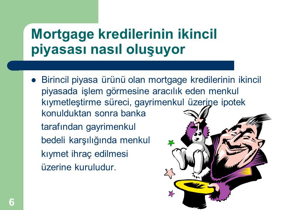 Mortgage kredilerinin ikincil piyasası nasıl oluşuyor