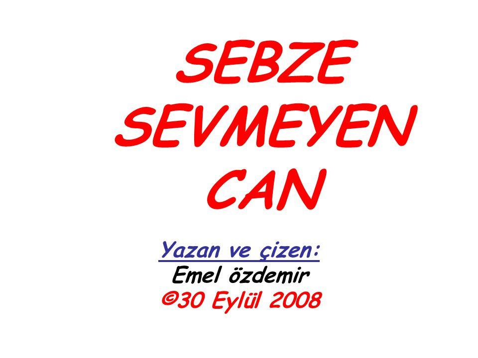 SEBZE SEVMEYEN CAN Yazan ve çizen: Emel özdemir ©30 Eylül 2008