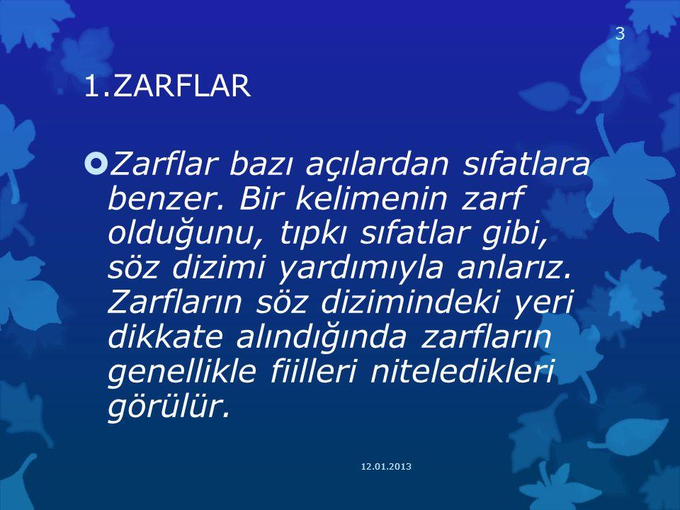 1.ZARFLAR