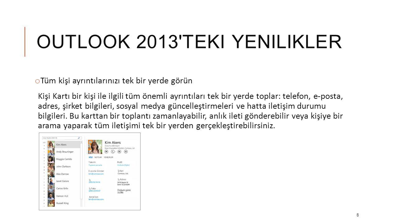 outlook 2013 teki yenilikler