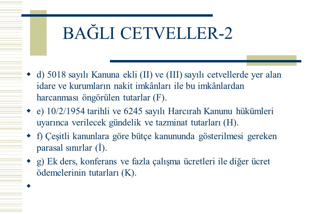 BAĞLI CETVELLER-2
