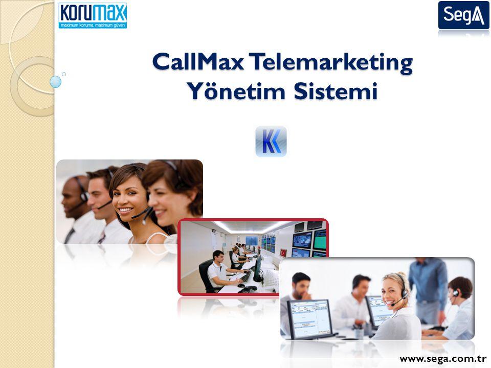 CallMax Telemarketing Yönetim Sistemi