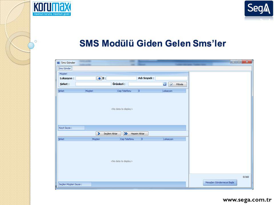 SMS Modülü Giden Gelen Sms'ler