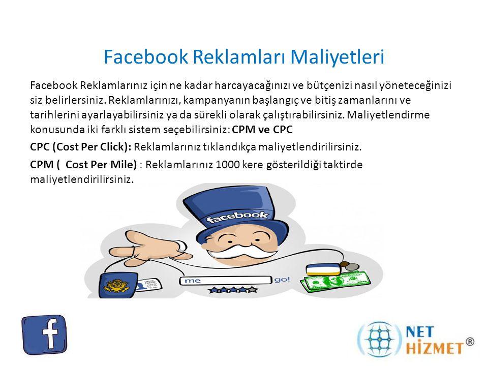 Facebook Reklamları Maliyetleri