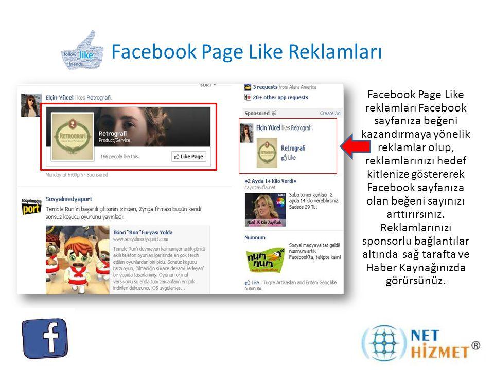 Facebook Page Like Reklamları