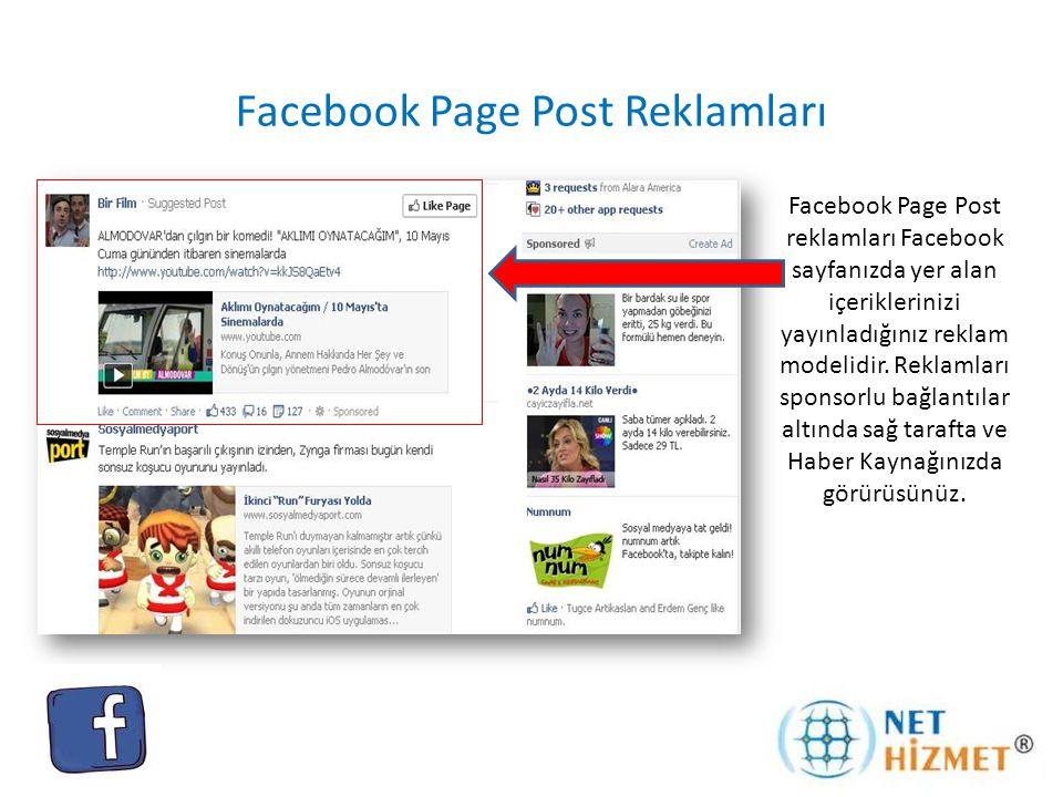 Facebook Page Post Reklamları