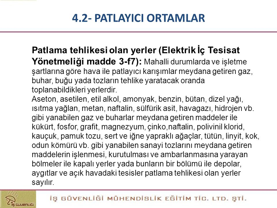 4.2- PATLAYICI ORTAMLAR