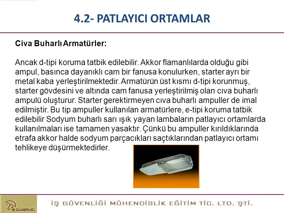 4.2- PATLAYICI ORTAMLAR Civa Buharlı Armatürler: