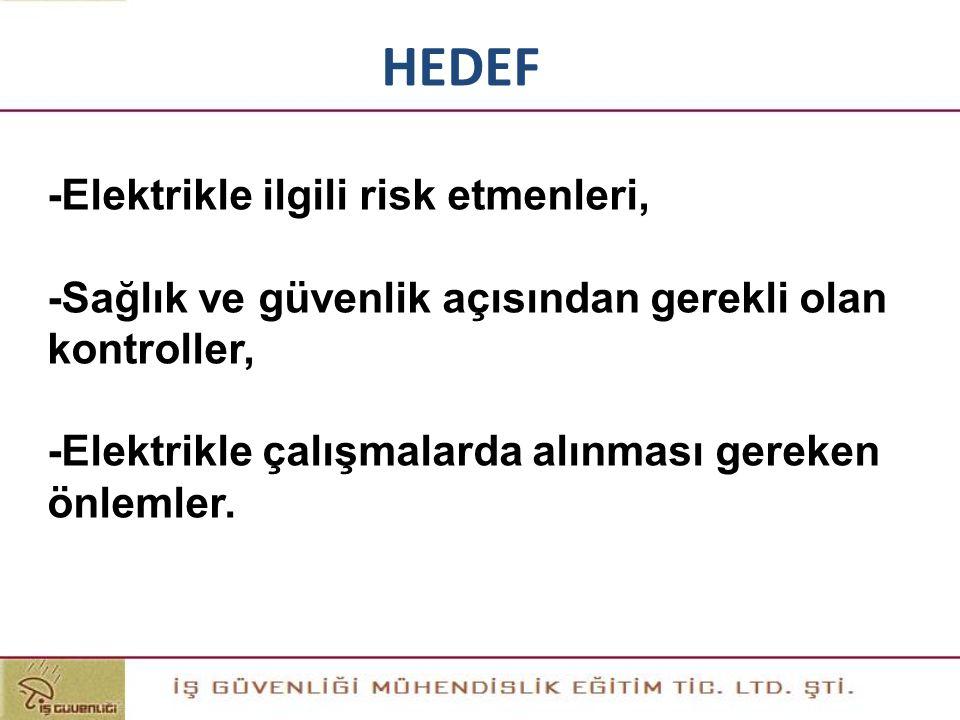 HEDEF -Elektrikle ilgili risk etmenleri,