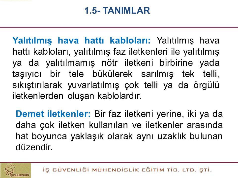 1.5- TANIMLAR