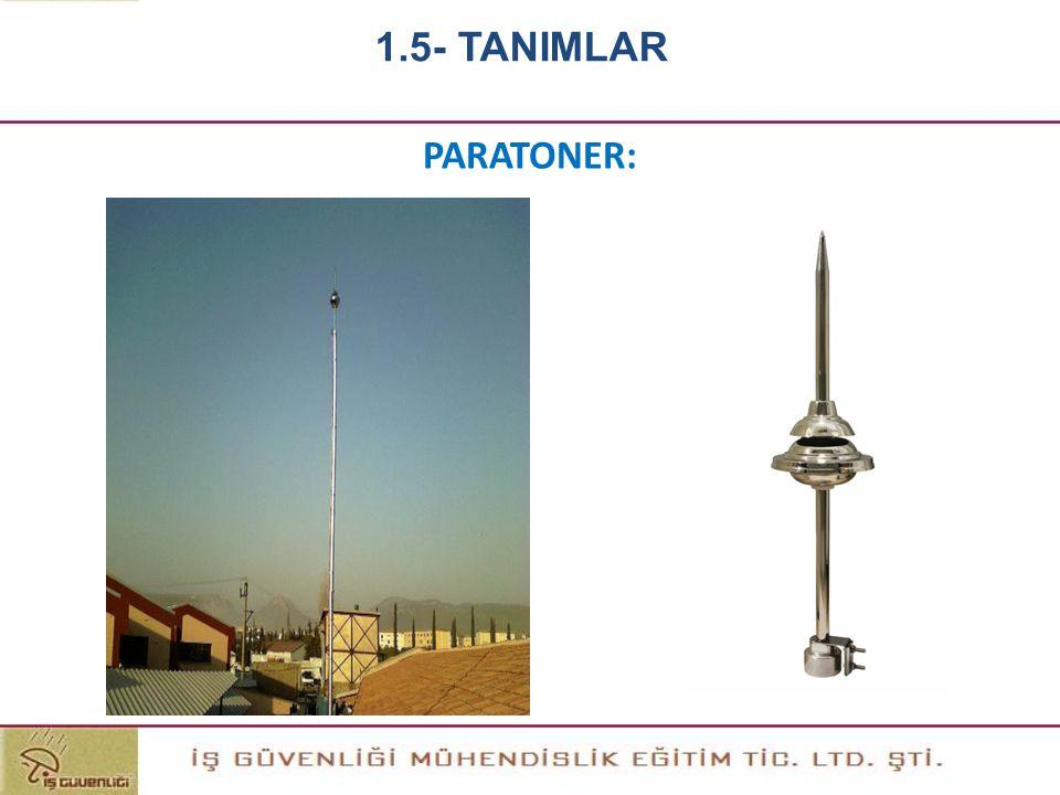 1.5- TANIMLAR PARATONER:
