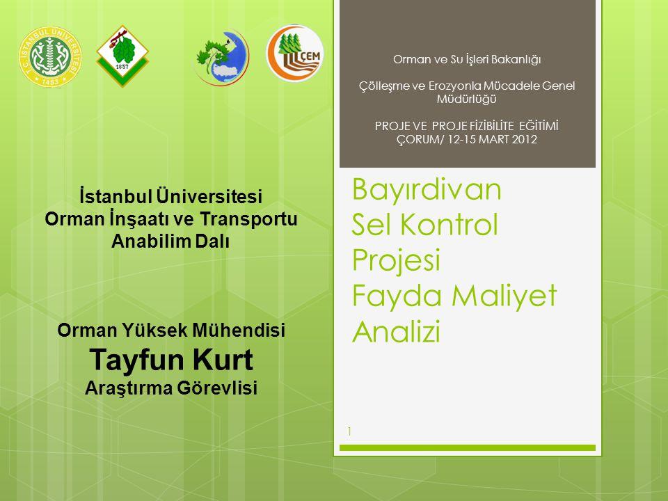 Bayırdivan Sel Kontrol Projesi Fayda Maliyet Analizi
