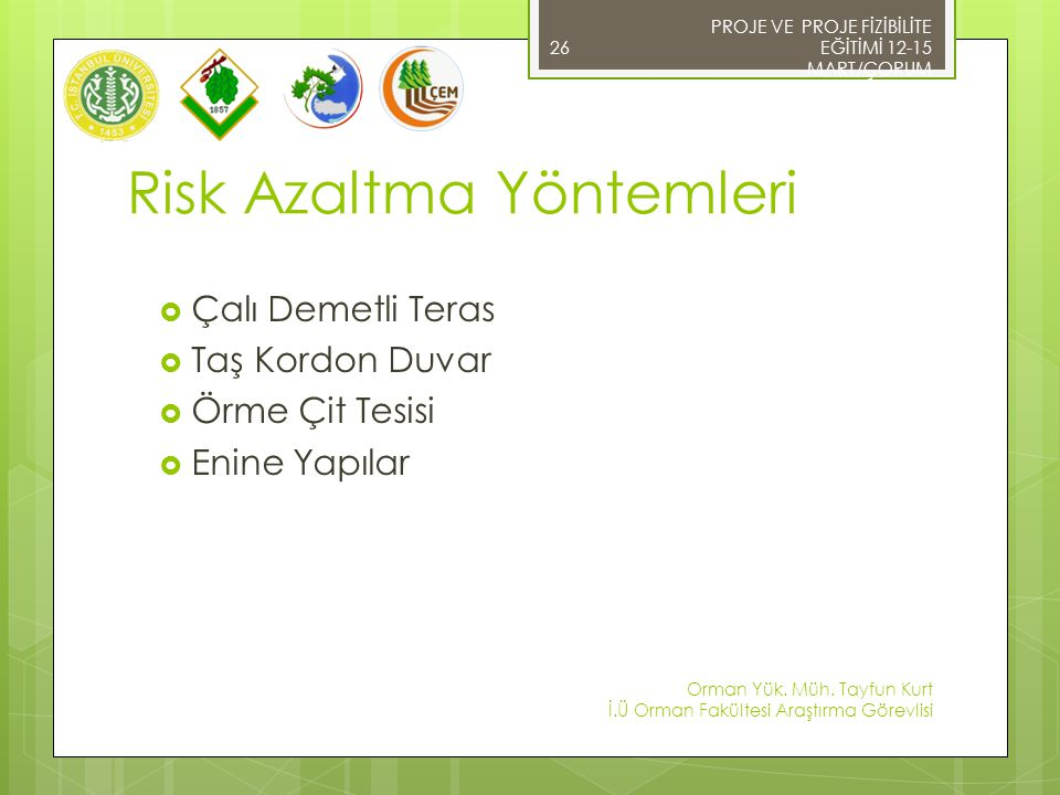 Risk Azaltma Yöntemleri