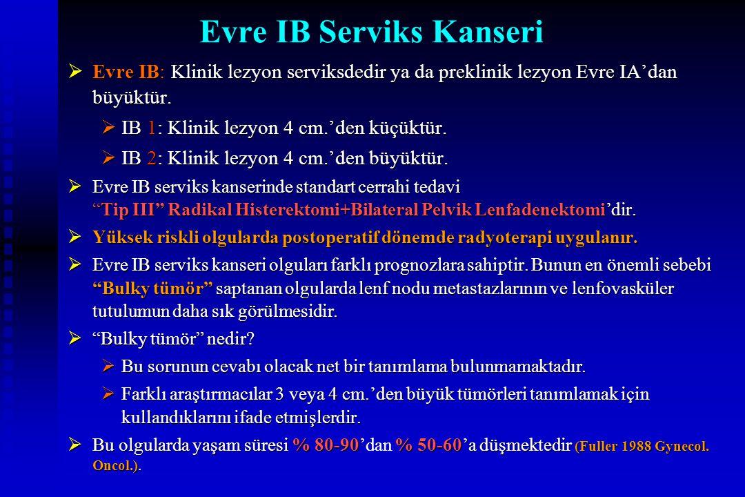 Evre IB Serviks Kanseri
