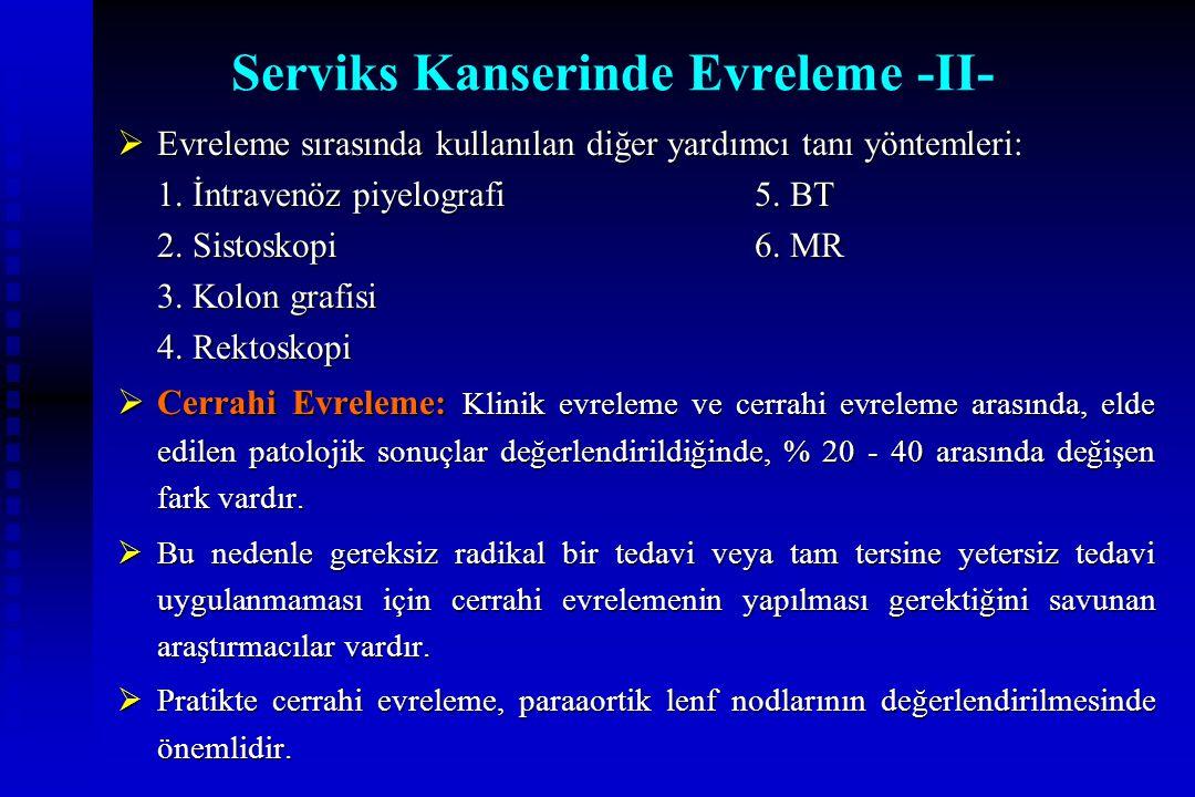 Serviks Kanserinde Evreleme -II-
