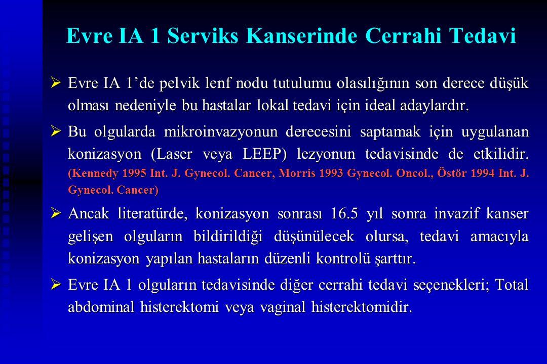 Evre IA 1 Serviks Kanserinde Cerrahi Tedavi