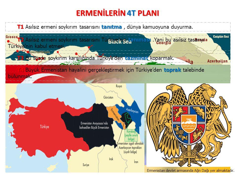 ERMENİLERİN 4T PLANI T1 Asılsız ermeni soykırım tasarısını tanıtma , dünya kamuoyuna duyurma.