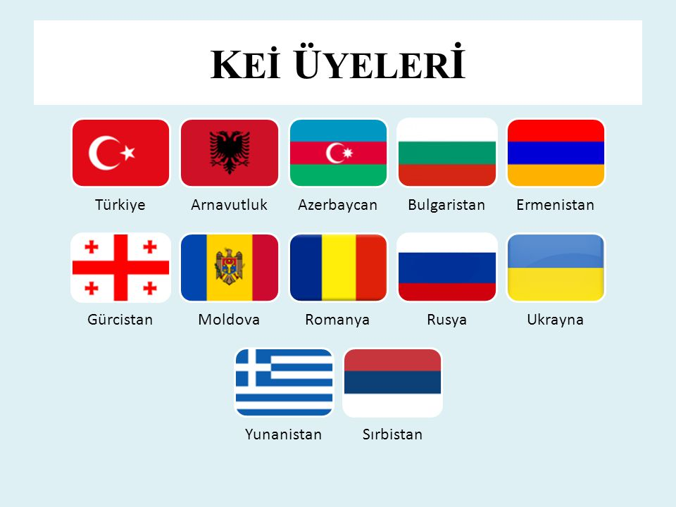 KEİ ÜYELERİ Türkiye Arnavutluk Azerbaycan Bulgaristan Ermenistan