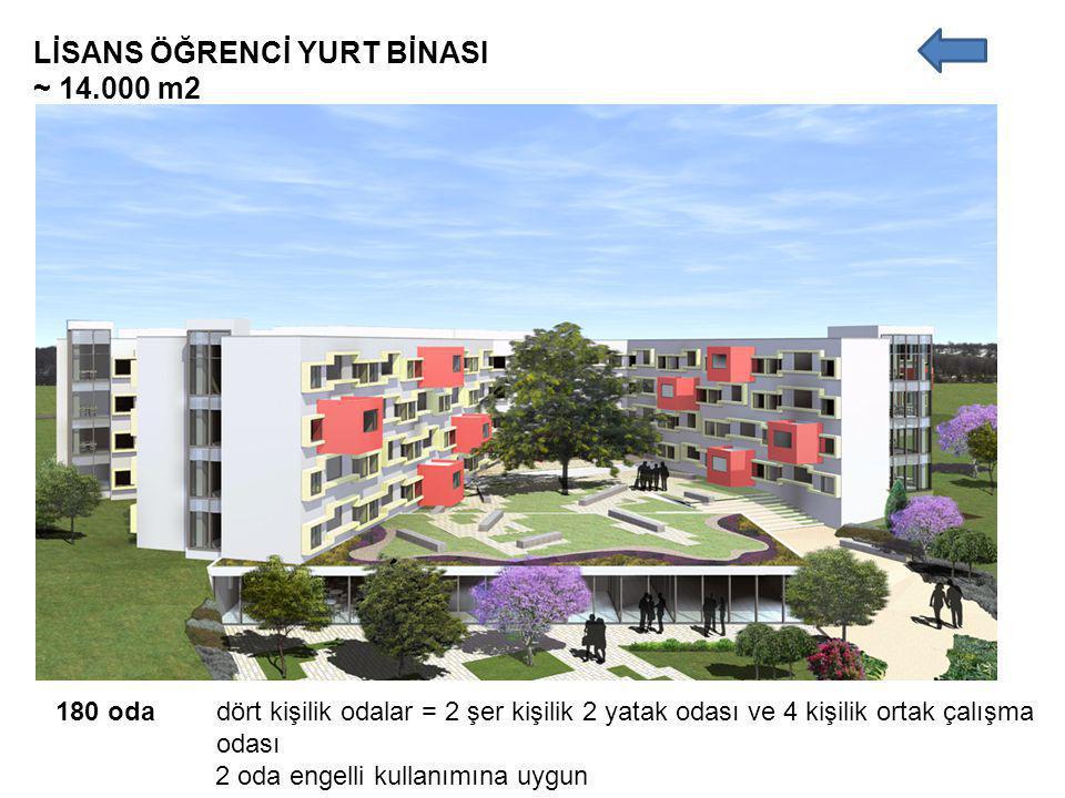 LİSANS ÖĞRENCİ YURT BİNASI ~ 14.000 m2