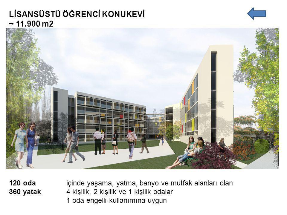 LİSANSÜSTÜ ÖĞRENCİ KONUKEVİ ~ 11.900 m2