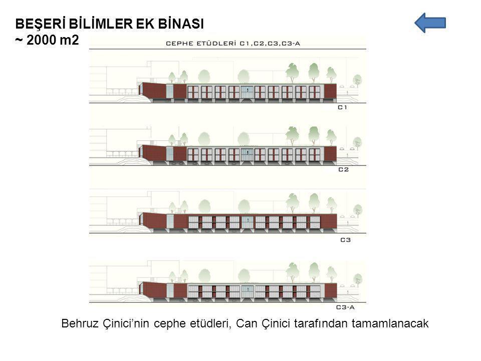 BEŞERİ BİLİMLER EK BİNASI ~ 2000 m2