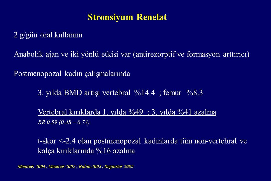 Stronsiyum Renelat 2 g/gün oral kullanım