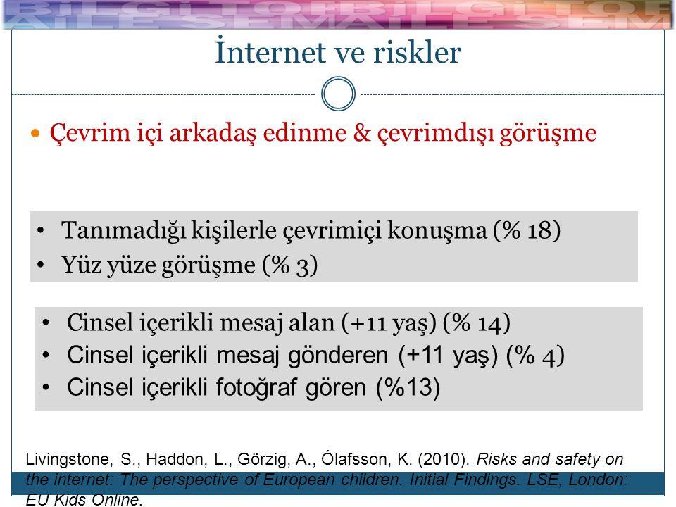 İnternet ve riskler Çevrim içi arkadaş edinme & çevrimdışı görüşme
