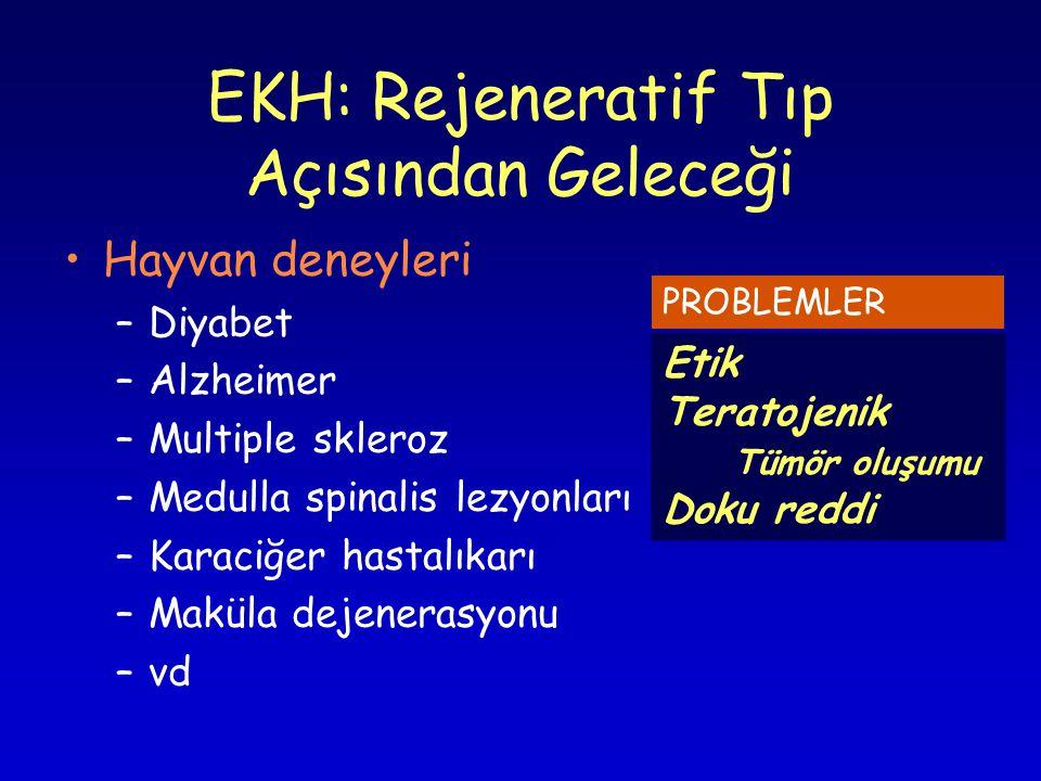 EKH: Rejeneratif Tıp Açısından Geleceği