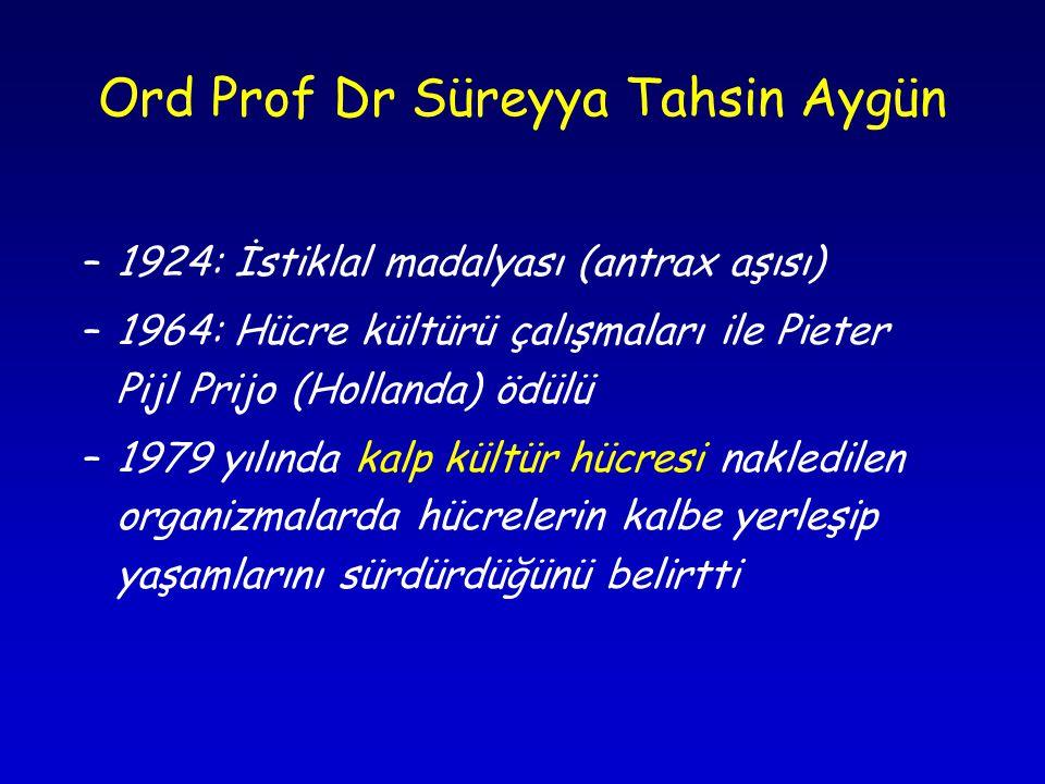 Ord Prof Dr Süreyya Tahsin Aygün