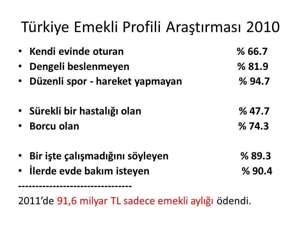 Türkiye Emekli Profili Araştırması 2010