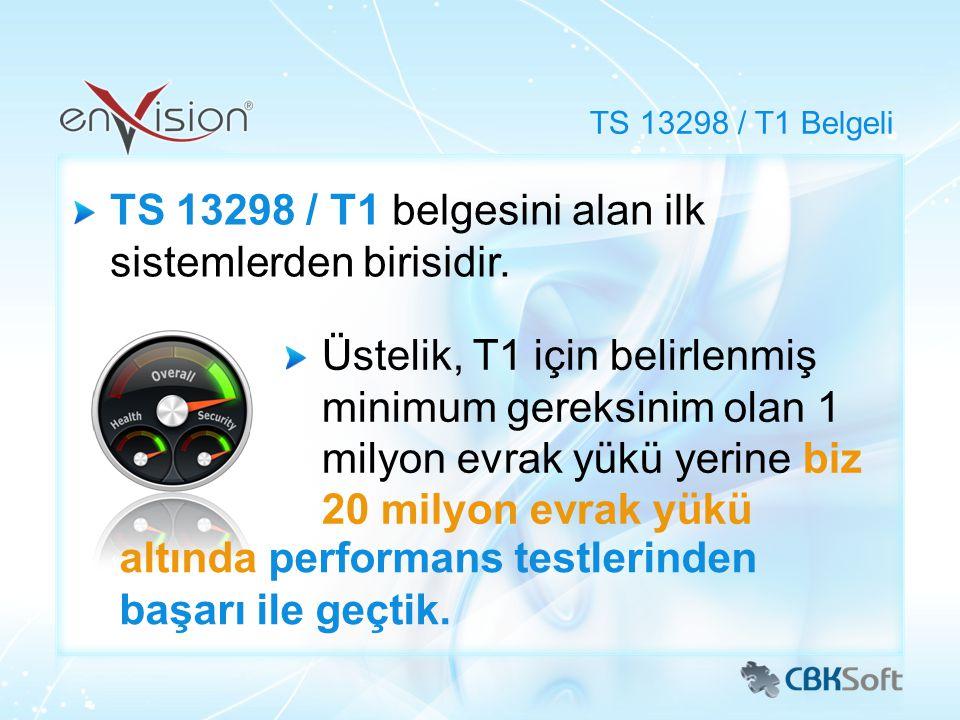 TS 13298 / T1 belgesini alan ilk sistemlerden birisidir.