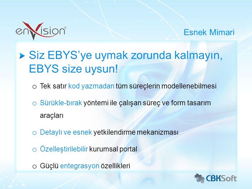 Siz EBYS'ye uymak zorunda kalmayın, EBYS size uysun!