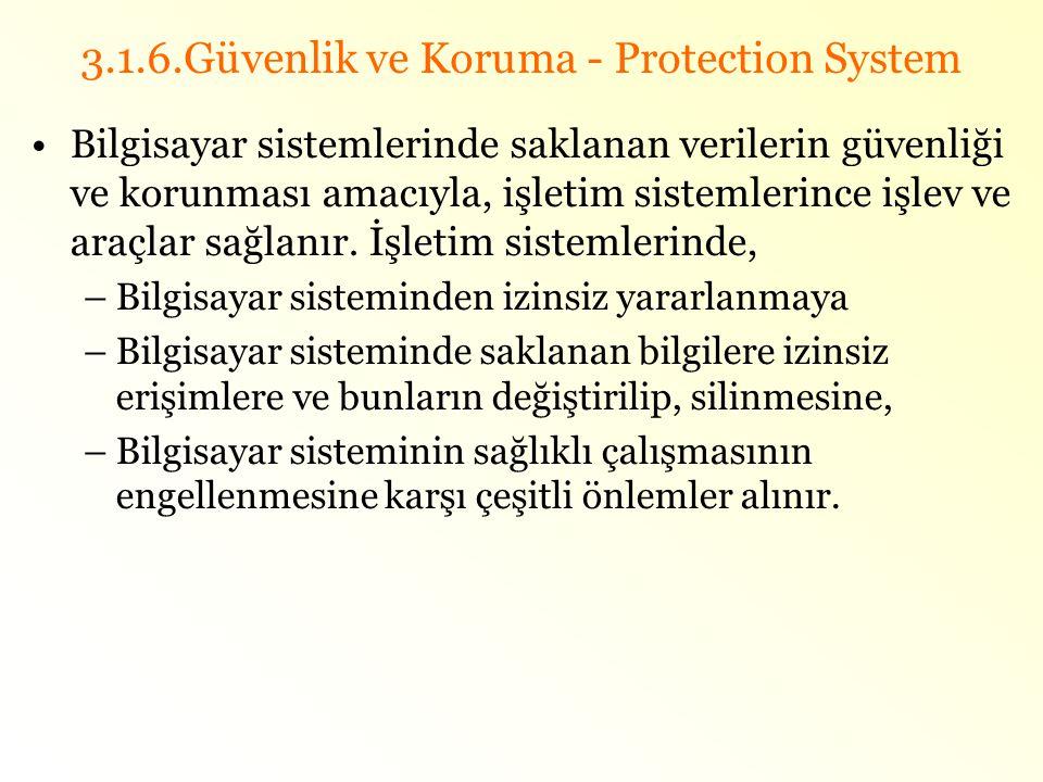 3.1.6.Güvenlik ve Koruma - Protection System