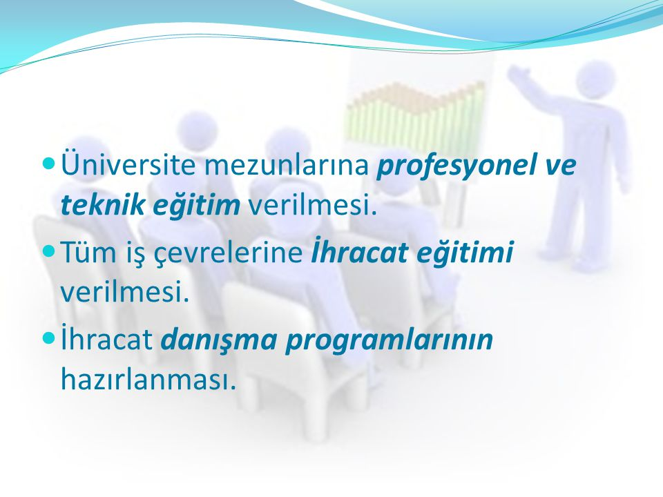 Üniversite mezunlarına profesyonel ve teknik eğitim verilmesi.