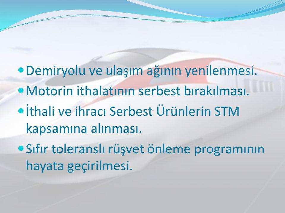 Demiryolu ve ulaşım ağının yenilenmesi.
